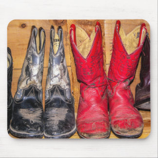 Well Worn Cowboy Boots - Women Mouse Pad
