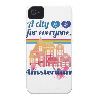 Wellcoda Amsterdam Everyone Human Right iPhone 4 Case-Mate Case