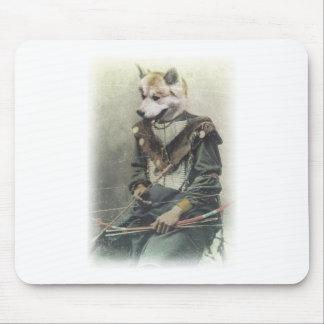 Wellcoda Animal Dog Akita Inu Bow Native Mouse Pad