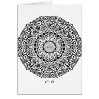 Wellcoda Apparel Indian Style Ceramic Fun Greeting Card