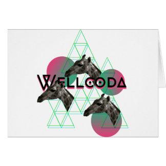 Wellcoda Apparel Wild Giraffe Animal Life Greeting Card