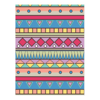 Wellcoda Asian Style Pattern Indian Look Postcard