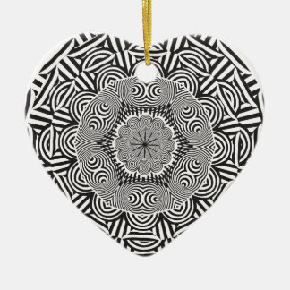 Wellcoda Aztec Life Style Test Decoration Ceramic Heart Decoration
