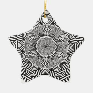 Wellcoda Aztec Life Style Test Decoration Ceramic Star Decoration