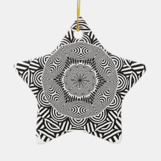 Wellcoda Aztec Life Style Test Decoration Ceramic Star Decoration
