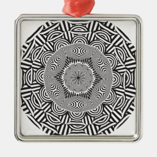 Wellcoda Aztec Life Style Test Decoration Silver-Colored Square Decoration