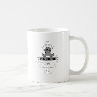 Wellcoda Barber Shop Moustache Aftershave Coffee Mug