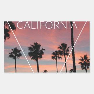Wellcoda California Palm Beach Sun Spring Rectangular Sticker