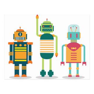 Wellcoda Cartoon Robot Party Kid Fun Life Postcard