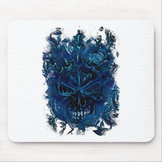 Wellcoda Creepy Horror Skull Scary Mask Mouse Pad