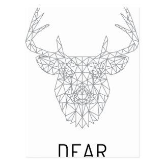 Wellcoda Dear Oh Deer Animal Crazy Stag Postcard