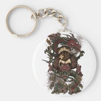 Wellcoda Dragon Ornament Freaky Monster Basic Round Button Key Ring