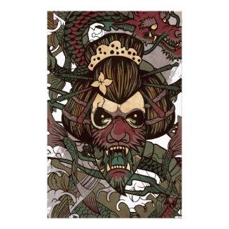 Wellcoda Dragon Ornament Freaky Monster Stationery Design