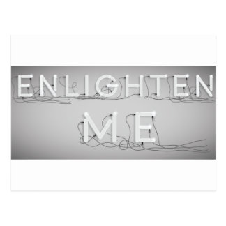 Wellcoda Enlighten Me Electric Bulb Lamp Postcard