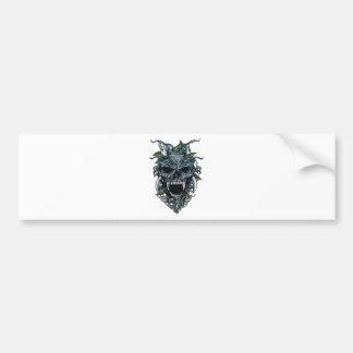 Wellcoda Evil Horror Skull Scary Mask Bumper Sticker