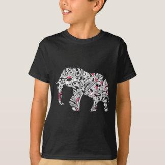 Wellcoda Flower Power Elephant Crazy Print T-Shirt