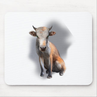Wellcoda Fox Cow Freak Mutant Fake Animal Mouse Pad