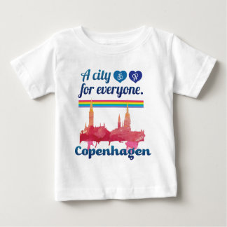 Wellcoda Friendly Copenhagen Denmark City Baby T-Shirt