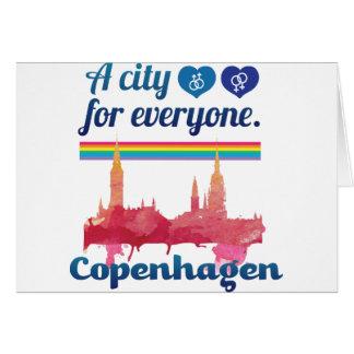 Wellcoda Friendly Copenhagen Denmark City Greeting Card