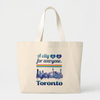 Wellcoda Friendly Toronto City Tolerance Large Tote Bag