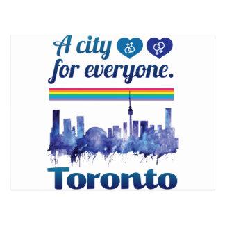 Wellcoda Friendly Toronto City Tolerance Postcard