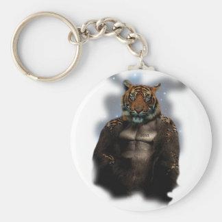 Wellcoda Future Freak Mutant Monster Basic Round Button Key Ring