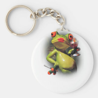 Wellcoda Glamour Frog Smoke Funny Animal Key Ring