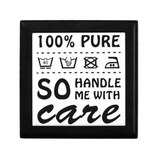 Wellcoda Handle Me With Care 100% Pure Fun Small Square Gift Box