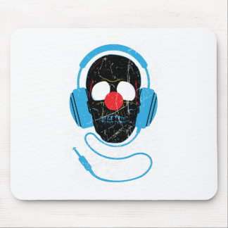 Wellcoda Headphone Skull Face Clown Nose Mouse Pad
