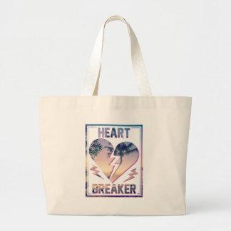 Wellcoda Heart Breaker Lover Palm Tree Jumbo Tote Bag