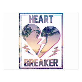 Wellcoda Heart Breaker Lover Palm Tree Postcard
