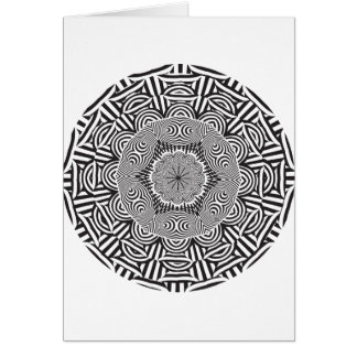 Wellcoda Indian Style Illusion Optical Greeting Card