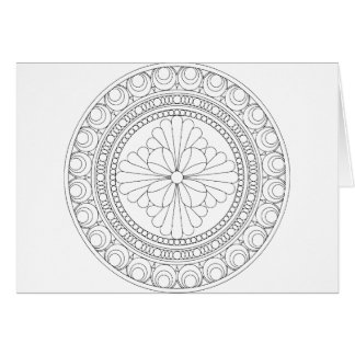 Wellcoda Indian Style Pattern Crazy Print Greeting Card