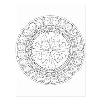 Wellcoda Indian Style Pattern Crazy Print Postcard