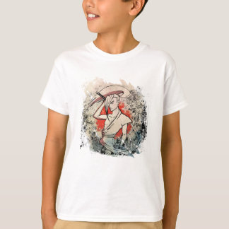 Wellcoda Japan Samurai Sword Fight Attack T-Shirt