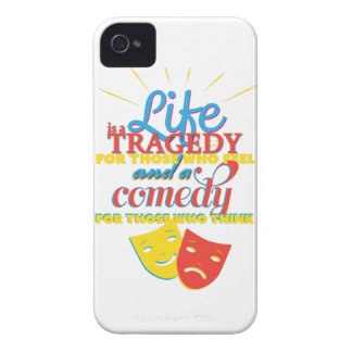Wellcoda Life Comedy Tragedy Mask Living iPhone 4 Case-Mate Cases