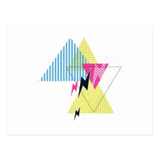 Wellcoda Lightning Bolt Triangle Flash 80's Postcard