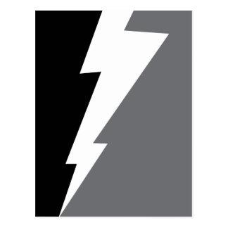 Wellcoda Lightning Shock Strike Grey Black Postcard