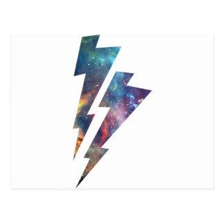 Wellcoda Lightning Strike Space Cosmos Postcard