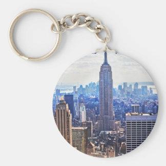 Wellcoda New York City NYC USA Urban Life Basic Round Button Key Ring