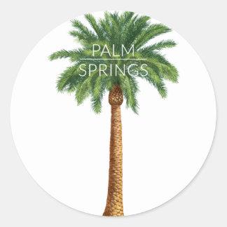 Wellcoda Palm Springs Holiday Summer Fun Round Sticker