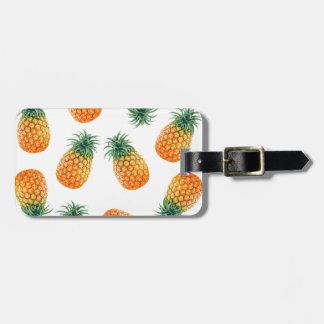 Wellcoda Pineapple Fruit Bowl Summer Fun Luggage Tag