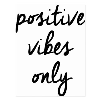 Wellcoda Positive Vibes Only UK Positivity Postcard