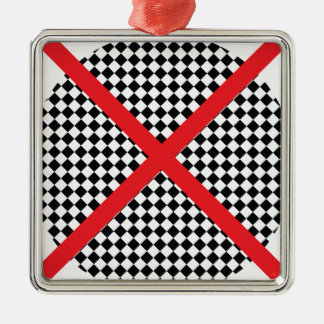 Wellcoda Red Cross Pattern Vote Flag Flyer Silver-Colored Square Decoration