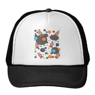 Wellcoda Rocket Moon Landing Space Wars Cap