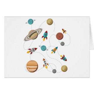 Wellcoda Rocket Space Landing Moon Wars Greeting Card