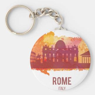 Wellcoda Rome City Capital Italy History Basic Round Button Key Ring