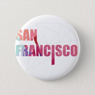 Wellcoda San Francisco City USA California Golden 6 Cm Round Badge