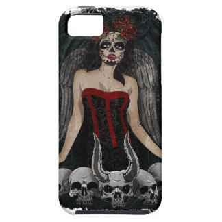 Wellcoda Scary Skull Sexy Girl Demon Evil Case For The iPhone 5