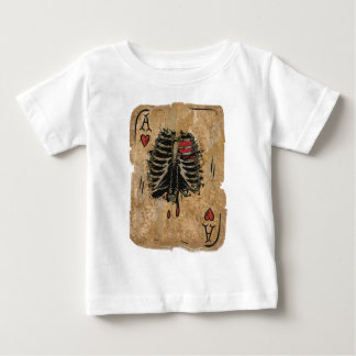Wellcoda Skeleton Ace Hearts Ribcage Card Baby T-Shirt
